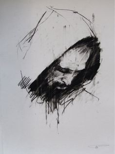 Guy Denning - 'Dante (Paradiso preparatory sketch)'
