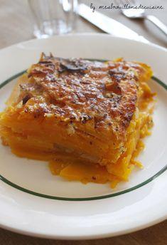 Gratin de courge butternut Veggie Recipes, Low Carb Recipes, Vegetarian Recipes, Cooking Recipes, Low Fat Low Carb, Dessert, Winter Food, Creative Food, Quick Easy Meals
