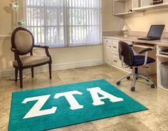 Buy a licensed Zeta Tau Alpha Sorority Logo Rug . Show your Zeta Tau Alpha Pride. Rug Rats is a trusted name in custom rugs. Free Samples. Free Shipping.