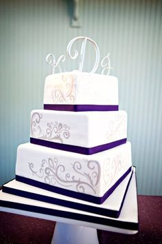 I love this cake! The letters on the top are kind of obnoxious, but the rest of the cake is really pretty!