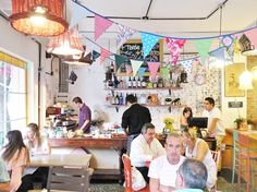 Shabby chic cafe in Buenos Aires