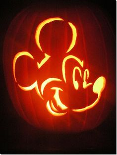 Mickey Mouse Pumpkin Carving
