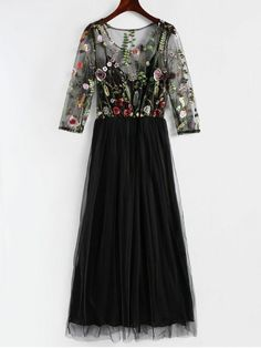 Up to 80% OFF! Floral Embroidered Mesh Overlay Dress. #Zaful #Dress Zaful,zaful dress,zaful outfits,black dress,dress,dresses,fashion,fall fashion,fall outfits,winter outfits,winter fashion,dress,long dress,maxi dress,long sleeve dress,flounced dress,vintage dress,casual dress,lace dress,boho dress, flower dresses,maxi dresses,evening dresses,floral dresses,long dresses,party dresses,gift,Christmas,ugly Christmas, New Year 2017, New Year Eve. @zaful Extra 10% OFF Code:ZF2017
