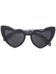 Saint Laurent heart frame sunglasses.