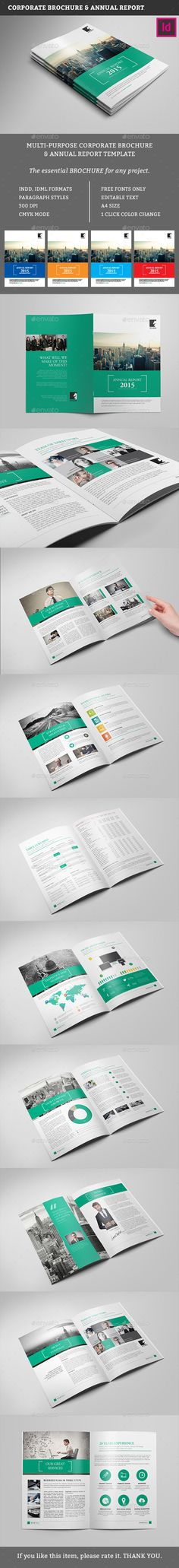 Cherry Multipurpose Brochure Template Δημιουργικός, Κείμενα και - free business report template