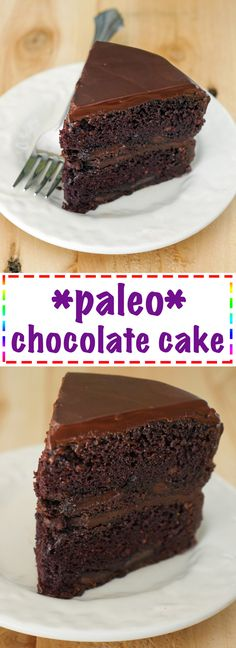 Paleo Chocolate Cake - so rich and decadent! You and your guests won't even realize it's gluten-free! Recipe on MyHeartBeets.com