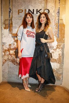 Moda Tutkusu during PINKO by Arzu Sabanci event in Rome for the launch of Spring Summer 2016 collection