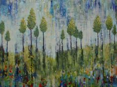 Reaching for the Sky Acrylic Painting on Canvas (30 x 40) by Sarah Goodnough