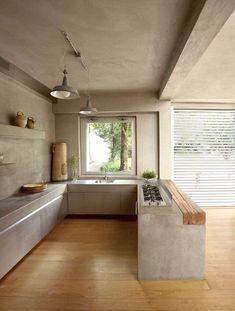 Kitchen Interior, Home Interior Design, Interior Architecture, Design Kitchen, Modern Interior, Contemporary Architecture, Contemporary Design, Modern Design, Minimalist Kitchen