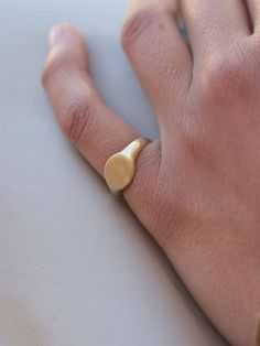 solid gold signet ring