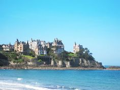 Dinard, the most English of the seaside resorts on the Emerald Coast - Brittany, known for its Belle Epoque mansions, casino, English Language Film festival