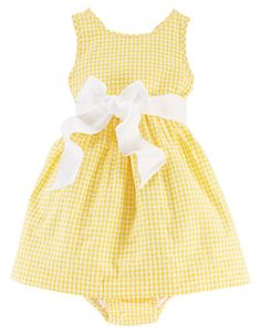 Kids'   Dresses   Baby Girls Cotton Seersucker Dress   Lord and Taylor