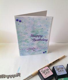 Geburtstagskarte mit für mich neuer Technik.