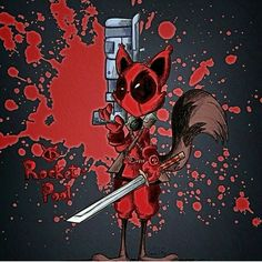 Rocket Raccoon as Deadpool