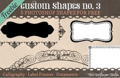 Comes with PNG too!!     #Photoshop #Shapes #Printables