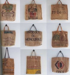 Big Bag Handmade Jute Linen Bags by ThisandThatFromJapan on Etsy