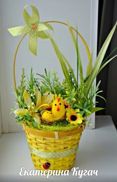 Топиарии от Катюши Кугач=) Art Worksheets, Chocolate Bouquet, Angel Pictures, Wedding Decorations, Table Decorations, Easter Crafts For Kids, Egg Decorating, Topiary, Happy Easter