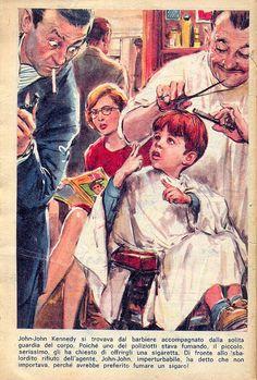 magazine il monello - comics - john-john kennedy - disegno walter molino by sonobugiardo, via Flickr