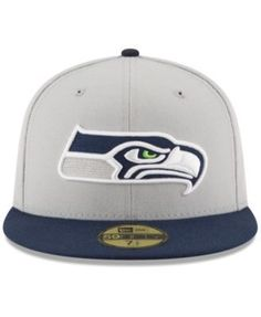 54e15afe245 New Era Seattle Seahawks Team Basic 59FIFTY Fitted Cap - Gray 6 7 8