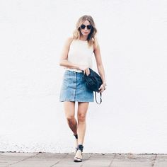 Fall Essentials: The Button Front Skirt: The August Diaries