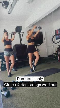 16 Week Workout, Gym Workout Videos, Workout Challenge, Fun Workouts, Hamstring Workout, Dumbbell Workout, Butt Workout, Kettlebell, Fitness Workout For Women
