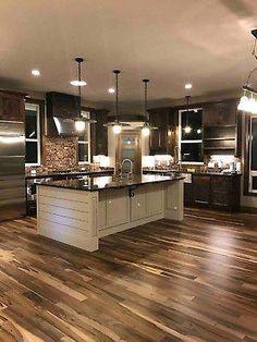 home decor Prefinished Solid Brazilian Macchiato Pecan Wood Hardwood Flooring Sample Home Decor Kitchen, New Kitchen, Home Kitchens, Kitchen Ideas, Cozy Kitchen, Kitchen Sinks, Kitchen Designs, Kitchen Rustic, Country Kitchens