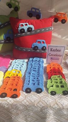 Crochet Cars. Hooray something for the boys!