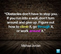 Obstacles overcome, Jordan style...