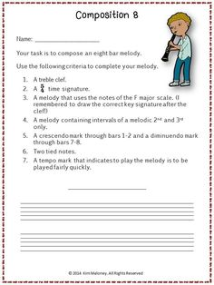 FREE DOWNLOAD!!! This  freebie will provide you with a one-page music composition activity you can use in your classroom tomorrow!!!! #musiceducation #musedchat