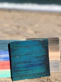 An Introduction to The Feather Weather Feather Painting, Spray Painting, Painted Boards, Painted Signs, Sea Siren, Weathered Paint, Sea Colour, Wood Chest, Vinyl Signs