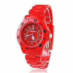 Tanboo Plastic Band Japanese Quartz Wrist Watch For Women(Red) by Tanboo Watchs. $7.99. Sports Fan Watch. Gender:Women'sMovement:QuartzDisplay:AnalogStyle:Wrist WatchesType:Fashionable WatchesBand Material:PlasticBand Color:RedCase Diameter Approx (cm):4Case Thickness Approx (cm):1Band Length Approx (cm):20Band Width Approx (cm):4