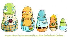 Propagate - Illustration Friday robot dolls