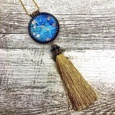 Tassel and Polymer clay make a stunning combination for a Statement Pendant necklace. Clay focal by Jenny Church Studios beaded by On A String. Now available in store. Link in bio! #beading #ilovebeading #relaxation #madeinaustralia #handmade #beadedjewellery #giftforher #learntobead #etsy #etsysellers #etsygifts #etsystore #estysellersofinstagram #etsyshop #etsyshopping #etsyfinds #pendants #necklaces #handmade #loveaustralianhandmade #ilovebeading #polymerclay #polymerclaypendant…