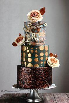 Spectacular Modern Wedding Cakes by Jessica MV - Mon Cheri Bridals
