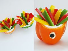 Bell pepper monsters are a perfect source of vitamin c and a fun vegetable for your kids to eat!