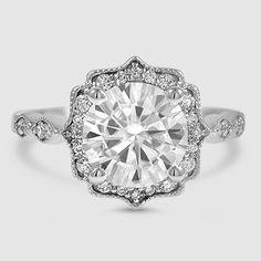 Cadenza Halo Diamond Ring