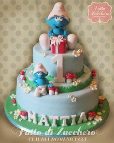 The Smurfs - Cake by FattodiZucchero