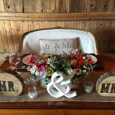 Loved this cozy comfy rustic decor at today's wedding! #mathewstakessides #barnwedding