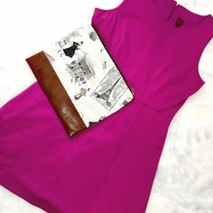 """212 Collection Purple Skater Dress Must have closet staple! This purple dress has a tank cut top and full a-line skirt to flatter any figure type. Runs to a 12-14: Bust 19 1/2"""", Waist 18"""", Length 37 1/2"""" from shoulder to hem. Has string loops for belt, not included. Also listed in coral, same size! 212 Collection Dresses"""