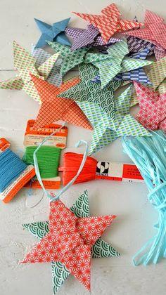 Kerst Sterren Vouwen - Origami Christmas Stars by ingthings #DIY