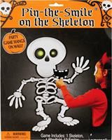Monster party games - pin the smile on the skeleton