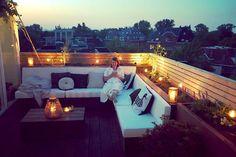 Rooftop Decor, Rooftop Design, Rooftop Terrace, Terrace Hotel, Terrace Floor, Bamboo Roof, Bamboo House, Terrace Garden Design, Patio Design