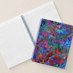 SOLD Spiral Notebook Floral Abstract Stained Glass https://www.zazzle.com/spiral_notebook_floral_abstract_stained_glass-256010340625356497 #Zazzle #Spiral #Notebook #Floral #Abstract #Stained #Glass #blue #red