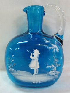 Mary Gregory Limoges Liqueur Decanter