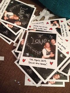 Take a cute polaroid photo, write date, have copies of photos made, attach magnets onto the back. Mail!