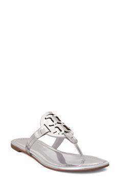 Tory Burch Miller Sandal available at #Nordstrom Bold Logo, Stylish Sandals, Miller Sandal, Anne Klein, Wedge Sandals, Ankle Strap, Tory Burch, Flip Flops, Espadrilles