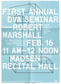 Department of Visual Arts Posters - some work by kent r miller (graphic designer)