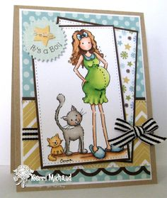 It's A Boy! by girlydecou - Cards and Paper Crafts at Splitcoaststampers Echo Park Paper, Expecting Baby, Papers Co, Copics, Baby Cards, Card Making, Baby Boy, Paper Crafts, Baby Shower