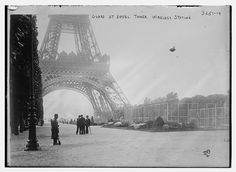 """""""Guard at Eiffel Tower – Wireless Station,"""" ca. 1914-1915. George Grantham Bain Collection, Library of Congress Prints and Photographs Division."""