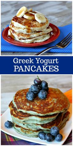 Greek Yogurt Pancakes Greek Yogurt Pancakes recipe from Pancakes Weight Watchers, Weight Watchers Breakfast, Weight Watchers Meals, Pancake Recipe With Yogurt, Greek Yogurt Pancakes, Pancake Recipes, Recipes With Greek Yogurt, Greek Yogurt Dessert, Greek Yogurt Recipes Breakfast